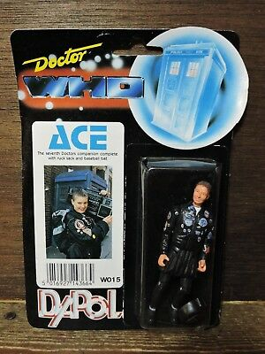 old Vintage 1987 BBC Dr Who ACE Seventh Doctor Companion DAPOL Action Figure Toy