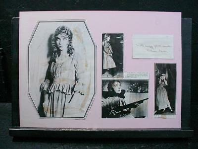NobleSpirit NO RESERVE {3970}Lovely Lilian Gish Autograph on Card w/Photos