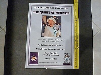Queen Elizabeth Ii Golden Jubilee 1952-2002 - Windsor Castle Exhibition Poster