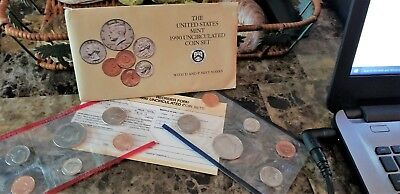 US Coins  Mixed Lot 1990 uncirculated coin sets P&D mint face value $1.82
