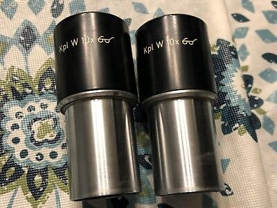 Carl Zeiss W KPL 10x Pair of Eyepieces