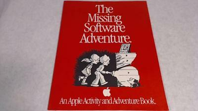 Vtg 1987 Apple Computer Activity Book The Missing Software Adventure 13 Pages