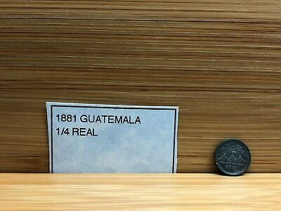 1881 Guatemala 1/4 Real Silver Foreign Coin