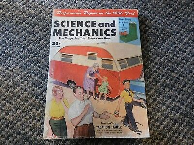 Vintage 1956 Science Mechanics IDEAS HOW TO Magazine 1956 Ford Vacation Trailer