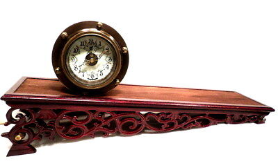 Amazing Rolling Plane Mechanical Clock--You Never Wind It With A Key--Por Dial