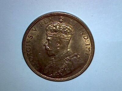 Canada 1911 One Cent Red And Brown Unc