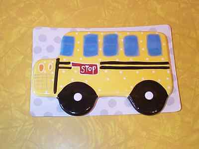 Cotton Colors Happy Everything Mini School Bus Attachment - New On Card !