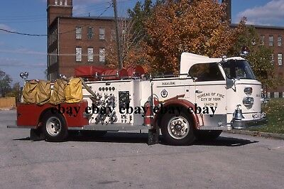 Fire Apparatus Slide - York PA - 1958 American LaFrance Engine 3