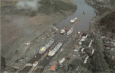 C09-3031, Busy Day, Miguel Locks, Panama Canal,