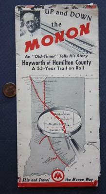1949 Hamilton County,Indiana Monon Railroad-The Hoosier Line brochure-Westfield!