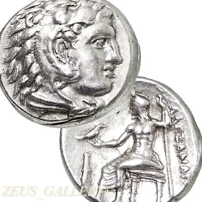 ALEXANDER the Great RARE Lifetime Issue Coin CLUB Ancient Greek Silver Herakles