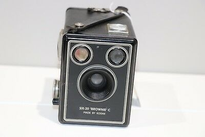 KODAK BROWNIE SIX-20 Model C Film Camera Good Working Condition (USED)