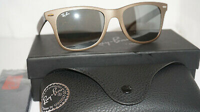 dcc7cc765b RAY BAN WAYFARER Liteforce RB4195 624830 52 Blue Frame   Grey Mirror ...