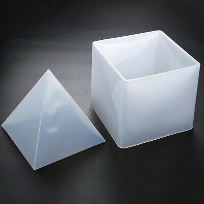 Pyramid Silicone Mould DIY Resin Decorative Mold Craft Jewelry Making Mold-White
