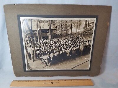 Orig 1918 Lg Photograph Hendee Mfg. Co Indian Motorcycle 2nd Annual Clambake
