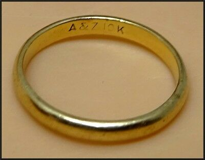 Childs Vintage / Antique Solid 10K Yellow Gold Baby Ring - Size 2