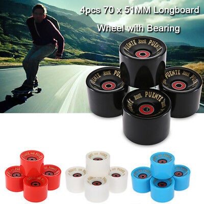 4pc 70x51MM Longboard Wheel Skate Roller with ABCE-9 Bearing for Smooth Riding
