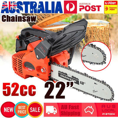 "52CC Petrol Chainsaw Professional 20"" Easy Start Chain Saw Petrol 2 Stroke 3.4HP"