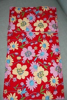 """Dolls Pram Cot Quilt Set 12"""" X 10"""" Pretty Red ,pink And Yellow . New"""