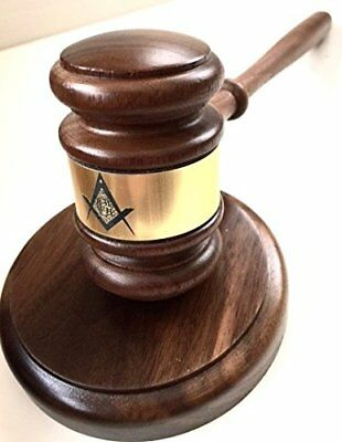 Gavel with Masonic emblem and Sound Block New