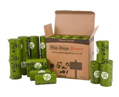 Premium Dog Poo Bags + Handles Biodegradable Waste Bag Rolls Green Large 240Bags