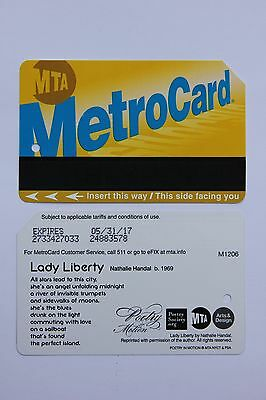 MTA: MetroCard (Fahrschein aus New York): Poetry in Motion: Lady Liberty