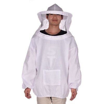 Beekeeper Beekeeping Protective Veil Suit Dress Jacket Smock Bee Hat Equipment