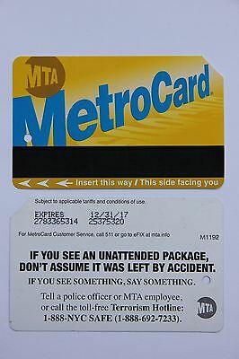 MTA: MetroCard (Fahrschein aus New York): IF YOU SEE AN UNATTENDED PACKAGE ...