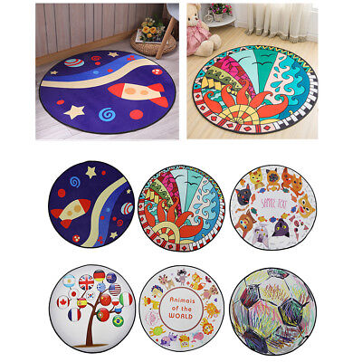 100cm Round Colorful Tent Carpet Kids Baby Playhouse Floor Game Crawling Mat