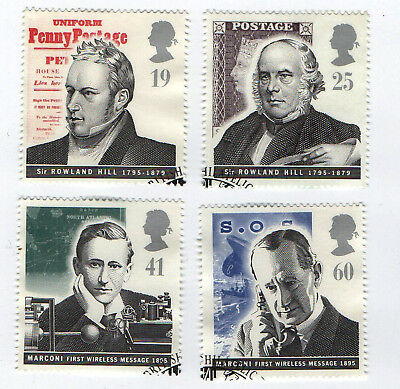 GB Stamps SG 1887-1890. 1995 Pioneers of Communications.  Complete Set VFU