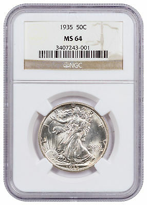 1935 Silver Walking Liberty Half Dollar NGC MS64 SKU55574
