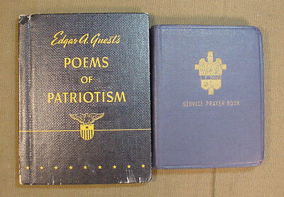 Wwii Us Army Soldiers Prayer Book And Patriotic Poems