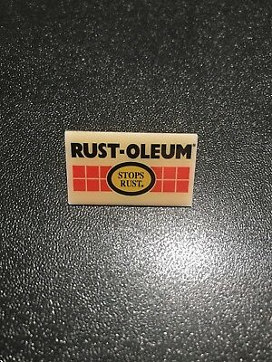 Home Depot Rust Oleum Paint OLD Tool Collectible Apron Pin Homer Retail Rare