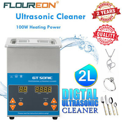 2L Stainless Steel Digital Ultrasonic Cleaner Jewelry Cleaning Polishing Heater