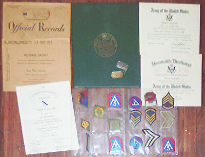 Rare -US Army WAC- Vintage WWII-Vietnam War Women's Archive - Documents/Patches+