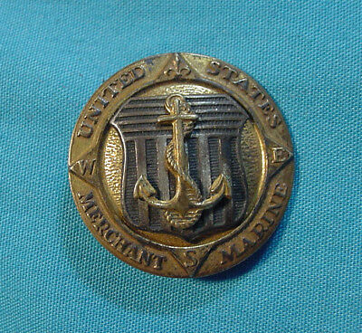 Wwii Usmm United States Merchant Marine Insignia Sterling Silver Pin