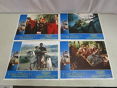 Vintage Lot of 4 TIME BANDITS LOBBY CARDS  *1981* Sean Connery, John Cleese