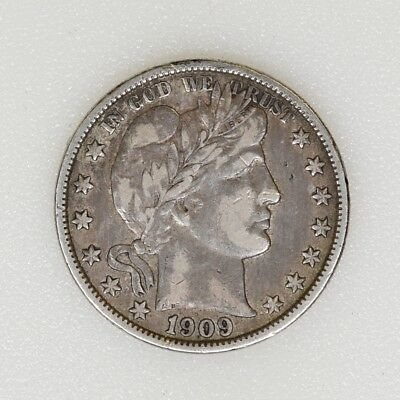 1909-O XF Condition Barber Silver Half Dollar Tough Date Nice Strike - I-14778 G