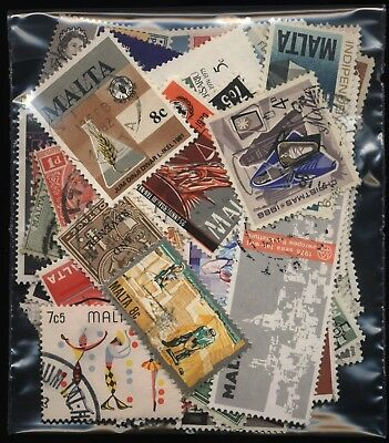 Malta Bag 130 Stamps Mostly Used