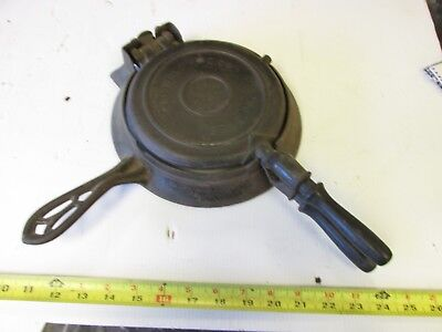 Old Antique Cast Iron  Griswold  # 7 & 8  1880 Patd  Waffle Iron