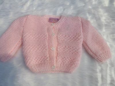 Baby girls Dizzy Daisy hand knitted pink matinee cardigan 6-9 months (SMALL)BNWT