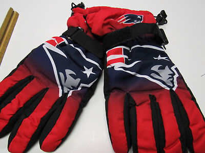 New England Patriots Winter Gloves Tailgate Game Mens Sz Large Xlarge Insulated