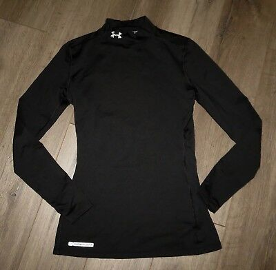 Women's UNDER ARMOUR ColdGear Fitted Compression Mock Long Sleeve Shirt Small