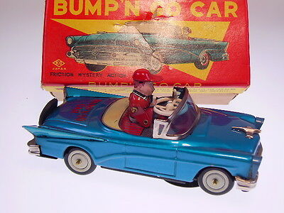"GSPKW,  KO JAPAN  ""BUMP,N  GO CAR"", 17cm, KURBELANTRIEB, NEARLY NEW/NEUWERTIG !"