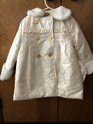 Penelope Mack Ivory Girls 4T Coat - NWT