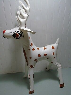 "VINTAGE 1960's RANDY REINDEER DAPCO 27"" VINYL INFLATABLE BLOW UP DISPLAY JAPAN"