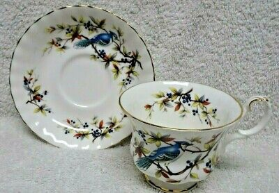 Royal Albert Woodland Series Blue Jay  Cup and Saucer