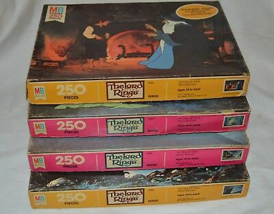 VINTAGE Milton Bradley 1978 The Lord of the Rings Puzzles The Hobbit #1 to #4