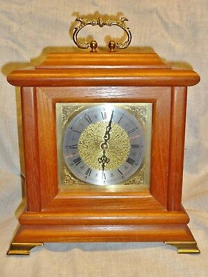 high quality hermle mantel clock solid hardwood heavy brass dial quartz movement