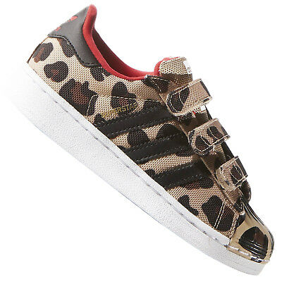 sports shoes 92129 fa8d0 adidas Originals Superstar Animal Kinder Schuhe Turnschuhe Leopard Schwarz